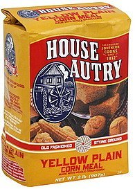 corn meal yellow plain House Autry Nutrition info