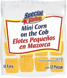 corn on the cob mini Special Value Nutrition info