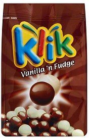 corn puffs vanilla 'n fudge Klik Nutrition info