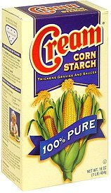 corn starch 100% pure Cream Nutrition info
