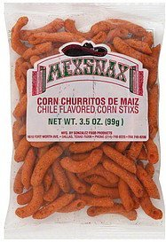 corn stixs chile flavored Mexsnax Nutrition info