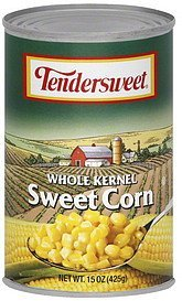 corn sweet, whole kernel Tendersweet Nutrition info
