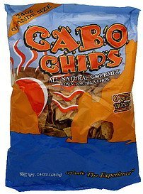 corn tortilla chips all natural gourmet Cabo Chips Nutrition info