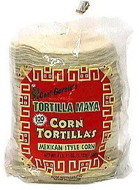 corn tortillas mexican style corn Chef Garcia Nutrition info