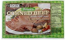 corned beef boneless Shenson Nutrition info