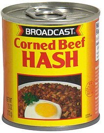 corned beef hash Broadcast Nutrition info
