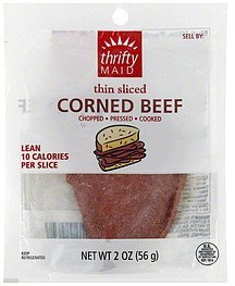 corned beef thin sliced Thrifty Maid Nutrition info