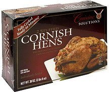 cornish hens stuffed Cuisine Solutions Nutrition info