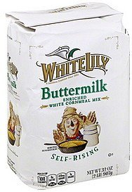 cornmeal mix buttermilk enriched white self-rising White Lily Nutrition info