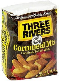cornmeal mix enriched/bolted white Three Rivers Nutrition info
