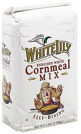 cornmeal mix self-rising, enriched white White Lily Nutrition info
