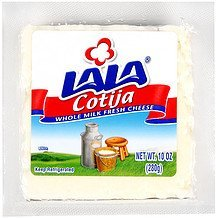 cotija cheese whole milk & fresh Lala Nutrition info