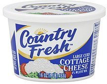 cottage cheese large curd Country Fresh Nutrition info