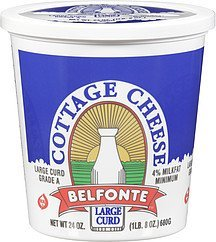 cottage cheese large curd Belfonte Nutrition info