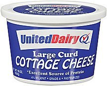 cottage cheese large curd United Dairy Nutrition info