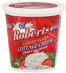 cottage cheese large curd Roberts Nutrition info