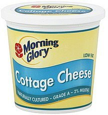 cottage cheese low fat, 2% milkfat Morning Glory Nutrition info