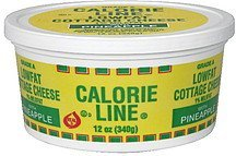 cottage cheese lowfat, pineapple Calorie Line Nutrition info
