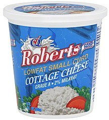 cottage cheese lowfat, small curd, 2% milkfat Roberts Nutrition info