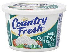 cottage cheese lowfat, small curd Country Fresh Nutrition info