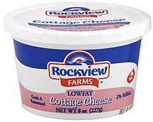 cottage cheese lowfat Rockview Farms Nutrition info