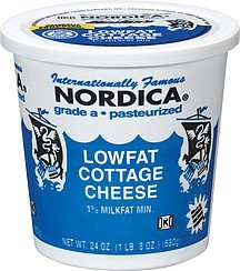 cottage cheese lowfat Nordica Nutrition info