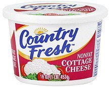 cottage cheese nonfat Country Fresh Nutrition info