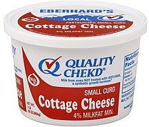 cottage cheese small curd, 4% milkfat Eberhards Nutrition info