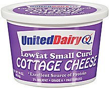cottage cheese small curd lowfat United Dairy Nutrition info