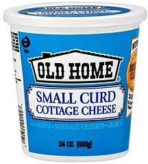 cottage cheese small curd Old Home Nutrition info