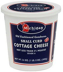 cottage cheese small curd Michigan Nutrition info