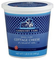cottage cheese small curd Midwest Country Fare Nutrition info