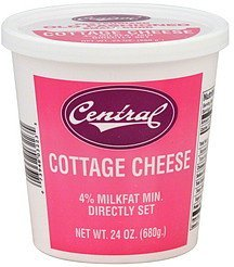 cottage cheese small curd Central Nutrition info