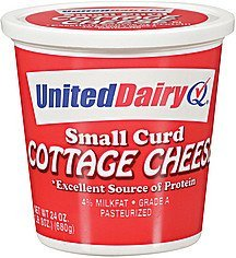 cottage cheese small curd United Dairy Nutrition info