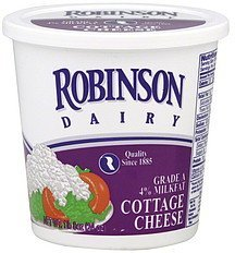 cottage cheese Robinson Dairy Nutrition info