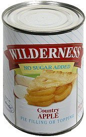 country apple pie filling or topping no sugar added Wilderness Nutrition info