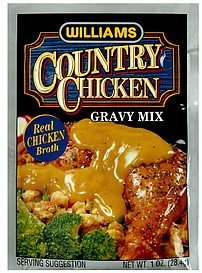 country chicken gravy mix Williams Nutrition info
