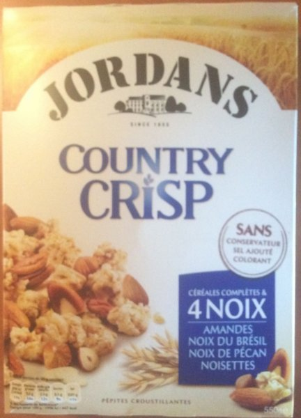 country crisp Jordans Nutrition info