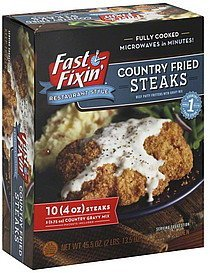 country fried steaks Fast Fixin' Nutrition info