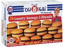 country sausage & biscuits value pack Old Folks Nutrition info