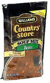 country store soup mix bean, with navy & pinto beans Williams Nutrition info