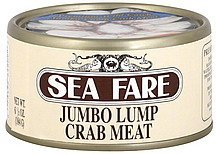 crab meat jumbo lump Sea Fare Nutrition info