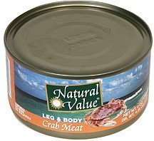 crab meat leg & body Natural Value Nutrition info