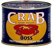 crab meat pasteurized, super lump Boss Nutrition info