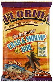 crab & shrimp boil garlic butter Florida Seafood Seasonings Nutrition info