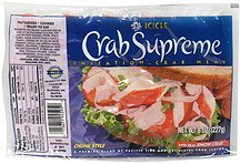 crab supreme imitation crab meat Icicle Nutrition info