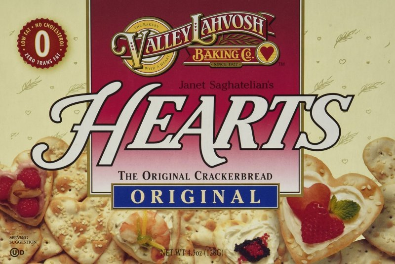 crackerbread original, hearts Valley Lahvosh Nutrition info