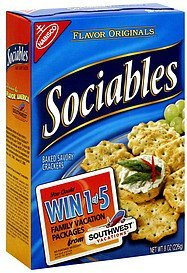 crackers baked savory Sociables Nutrition info