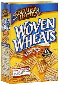 crackers baked whole wheat, woven wheats Southern Home Nutrition info