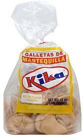 crackers butter flavor Kika Nutrition info